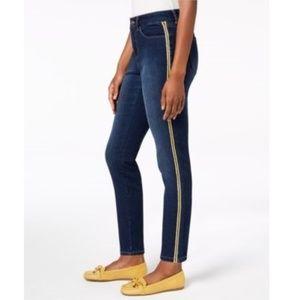 Charter Club Varsity Side Tummy-Control Jeans